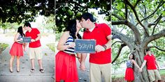 www.mirabelphotography.com www.mirabelphotographyblog.com Parker Engagement Session, Hemstich Vintage Rentals Engagement Props, Engaged and Holding Sign for wedding date, Engagement Session in Pensacola Florida, Holding Hands, Mirabel Photography | Pensacola Engagement Photographers
