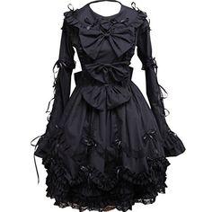 Partiss Women's Turndown Collar Bows Gothic Lolita Dress ... http://www.amazon.com/dp/B01DDH13PM/ref=cm_sw_r_pi_dp_hpakxb1HD9Q6K