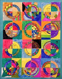 Common Core Lesson Plan - Quarter Circle Paper Quilt