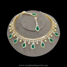 1gm-gold-stone-neckalce-with-price-rs.5300.jpg (900×900)