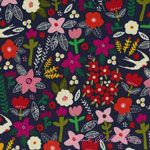 Carolyn Gavin Petite Fleur Swallows Navy [WF-39521-1] - $9.95 : Pink Chalk Fabrics is your online source for modern quilting cottons and sewing patterns., Cloth, Pattern + Tool for Modern Sewists