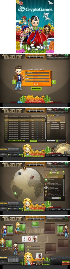 Web Game UI - CryptoGames by ~Cashong on deviantART