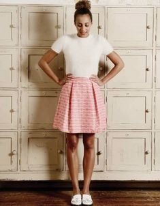 Free PDF pattern, GBSB Box pleat skirt