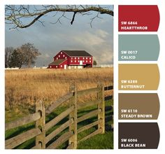 Barn. I followed this color palette in my home without even knowing!
