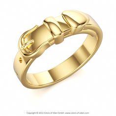 Gold Belt Ring Aphrodite's Girdle, Colors of Eden #gold #belt #band