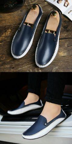 >> comprar aqui << Prelesty Tamaño Grande 38-46 Marca Otoño Causales Zapatos de Los Hombres de Los Holgazanes Hombres Mocasines De Cuero de Conducción Zapatos de los Planos Para Hombre suave Y Ligero