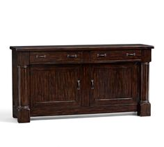 Shop Pottery Barn's buffets and sideboards that feature expert craftsmanship. Find wood buffet tables in various finishes and add functional style to the dining room. Dining Room Sideboard, Sideboard Cabinet, Dining Room Furniture, Dining Room Table, Home Furniture, Outdoor Furniture, Dining Area, Wood Buffet, Transitional House