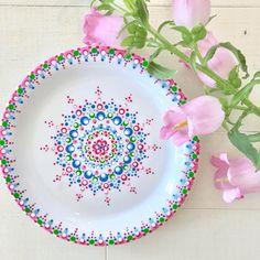 Pottery Painting Designs, Pottery Designs, Pottery Art, Mandala Artwork, Mandala Painting, Dot Art Painting, Ceramic Painting, Mandala Dots, Mandala Design