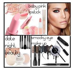 """date night beauty"" by saramoradi210 ❤ liked on Polyvore featuring beauty, Bobbi Brown Cosmetics, Urban Decay, Stila, Maybelline, MAKE UP FOR EVER, Giambattista Valli, Eos, Rimmel and Illamasqua"