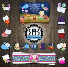 Under The Sea 1st birthday party package designed by RMB Art & Design https://www.facebook.com/RMBArtAndDesign/