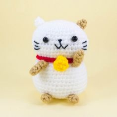 Lucky Cat Amigurumi Pattern amigurumi pattern by Snacksies Handicraft Corner