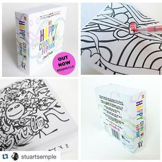 #HappyBook by #StuartSemple #mindCharity #adultColouringBook out now at Amazon #mentalHealth #creativity