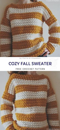 Sweater Weather Cute Crochet Ideas Sweater Weather Cute Crochet Ideas Silke Fischer silkeffischer Wärmendes Cozy Fall Sweater Free Crochet Pattern Cold autumn days have arrived […] Sweater pattern Pull Crochet, Knit Crochet, Autumn Crochet, Patron Crochet, Chunky Crochet, Sweater Weather, Cardigan Au Crochet, Crochet Sweaters, Free Crochet Sweater Patterns