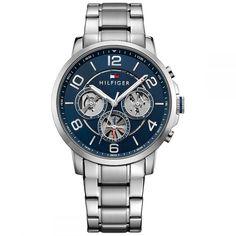 Tommy Hilfiger Men's Sophisticated Sport Stainless Steel Bracelet Watch 1791293 In Blue Tommy Hilfiger, Mesh Bracelet, Bracelet Watch, G Shock, Stainless Steel Bracelet, Link Bracelets, Versace, Teak