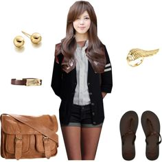 College days in Cali, created by gen-gee on Polyvore