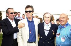 George Harrison with Emerson Fittipaldi, Jackie Stewart and Sitirling Moss  at the Cartier Style and Luxury Lunch at the Goodwood Festival of Speed