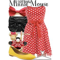 "SOMEBODY BUY ME THIS. ""Minnie Mouse"" by lalakay on Polyvore"