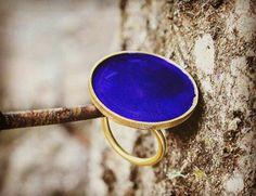 Deep blue handmade