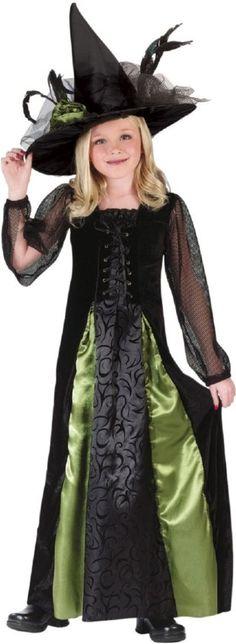 Goth Maiden Witch Kids Costume