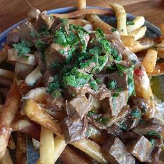 Happy hour #poutine from City Tavern in downtown #CulverCity. With slow #braised…