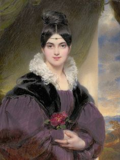 Moritz Michael Daffinger ~ Portrait of Marie Daffinger ~ Private collection, Vienna Alex Ferguson Book, Mark Stevens, Watercolor Portraits, Paintings For Sale, High Quality Images, Pretty Woman, Bing Images, Marie, Lady
