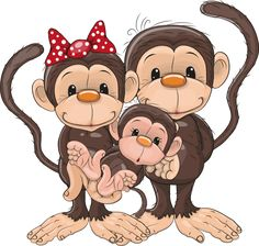 "Photo from album ""Обезьянки"" on Yandex. Clipart Baby, Cute Clipart, Illustration Tattoo, Frog Illustration, Cartoon Monkey, Cute Cartoon, Cute Images, Cute Pictures, Monkey Drawing"