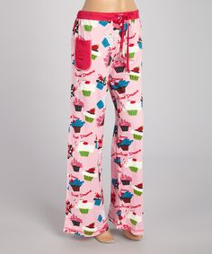 Love this Pink 'Sweet Dreams' Cupcake Lounge Pants  - Women by Lazy One on #zulily! #zulilyfinds
