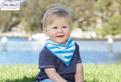 This bandana bib is made from certified organic cotton and is great for babies sensitive skin #sillybillyz