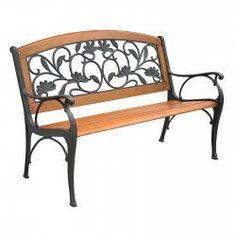 Garden Leaves Park Bench by Innova Hearth & Home
