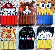 Moldes Para Artesanato em Tecido: Porta lápis de Feltro com moldes