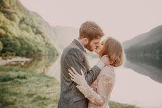 lakeside wedding photos in Ireland