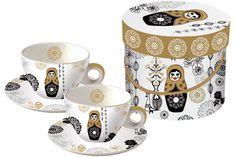 www.gifthaus.co.za Matryoshka Cappuccino Tea Time, Porcelain, Mugs, Tableware, Porcelain Ceramics, Dinnerware, Tumblers, Tablewares, Mug