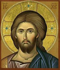 Icon of Jesus Christ Byzantine Art, Byzantine Icons, Religious Icons, Religious Art, Orthodox Catholic, Roman Church, Paint Icon, Christian Artwork, Jesus Face
