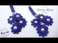 """Deep Blue"" Earrings 