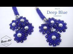"Peyote and Brick Stitch ""Deep Blue"" Earrings ~ Seed Bead Tutorials"