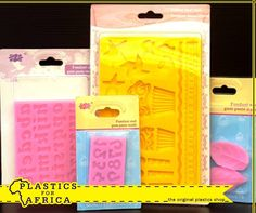 Add colour, dimension and excitement to your cake with these fondant & gum paste moulds. Available from #PlasticsforAfrica. #Caterware