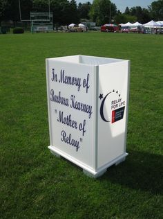 I love the idea of this giant luminary! 2011 Relay for Life Sandusky, Ohio