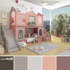 Kids Bedroom Designs, Cute Bedroom Ideas, Cute Room Decor, Kids Room Design, Baby Room Decor, Bedroom Decor, Bed For Girls Room, Little Girl Rooms, Baby Bedroom