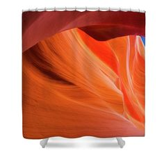 Orange Magic Shower Curtain featuring the photograph Orange Magic 1 by Elena Chukhlebova #showercurtain #orange #bathroomdecor #antelopecanyon #antelope #canyon #bathroomdecor #accent #bathroomaccent #nature #photo #elenachukhlebova #USA #America #homedecor