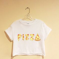 Pizza T-Shirt/ Sweatshirt crop top narwhal by latrendyclothes