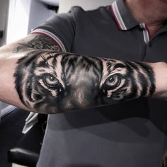 Tiger Forearm Tattoo - tattooideas247.com/tiger-forearm-…