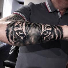 Tiger Forearm Tattoo - tattooideas247.com/tiger-forearm-…