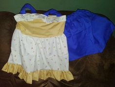 Twirly top with straps & shorts