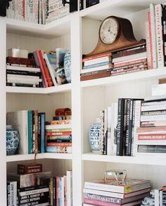 Decorated book shelf