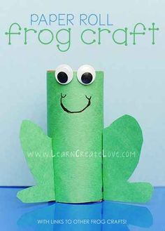 Toilet Paper Roll Frog | 25 Toilet Paper Roll Crafts