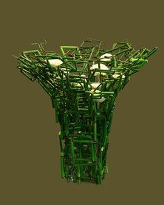 Manipulated Reeds Arrangement by Stef Adriaenssens