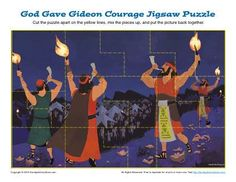 God Gave Gideon Courage Jigsaw Puzzle