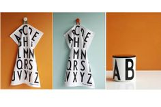Design Letters by A Jacobssen. Tea towels and jar. Want it!