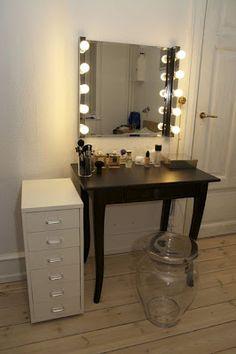 Hollywood inspired vanity  minus the random filing cabinet