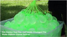 This Genius Dad Has Just Totally Changed The Water Balloon Game Forever! Water balloons are always fun. Great for family fun, parties, BBQs, or really any time you're outside with kids (or adults who know how to have a good time). #funwaterballoongame #easywaytofillballoons #funsummeractivity